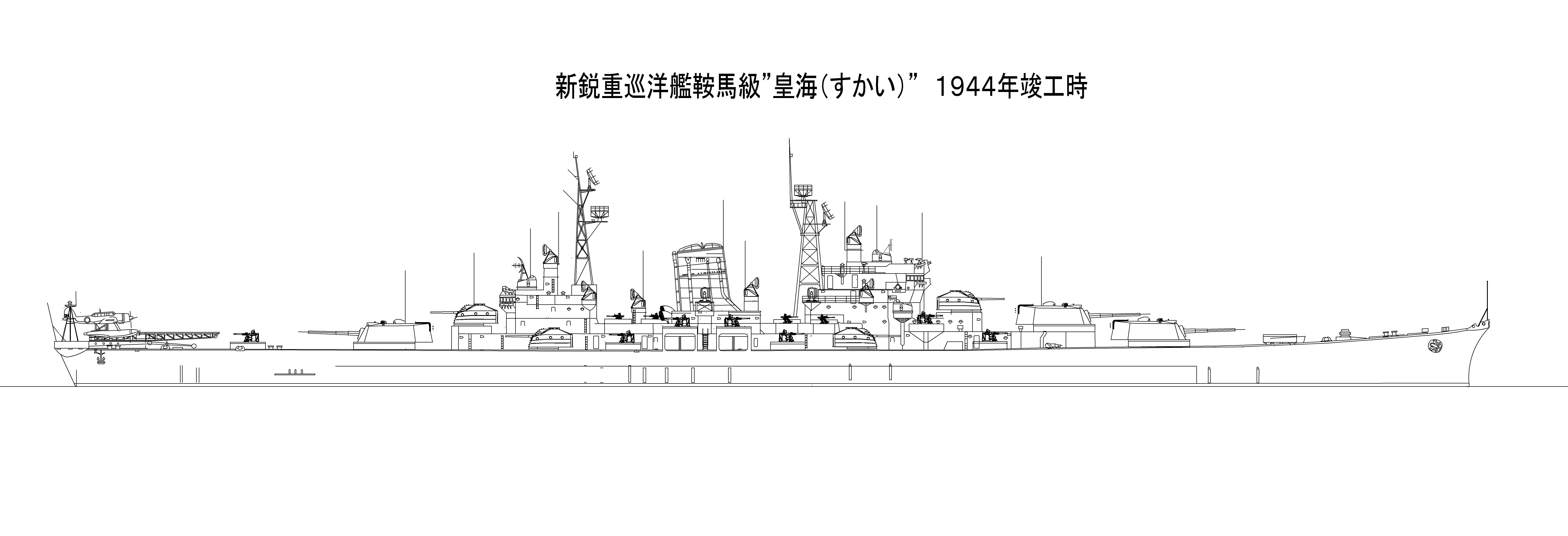 """仮想艦隊50.新鋭重巡洋艦 鞍馬(くらま)""""級"""